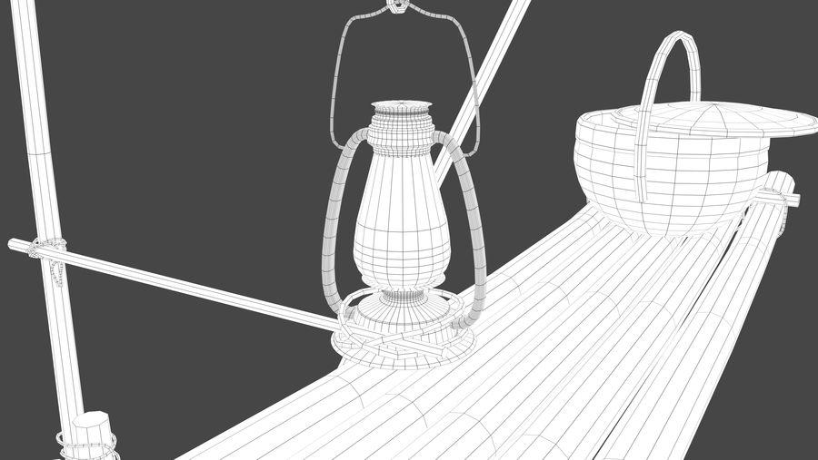Fishing raft royalty-free 3d model - Preview no. 8