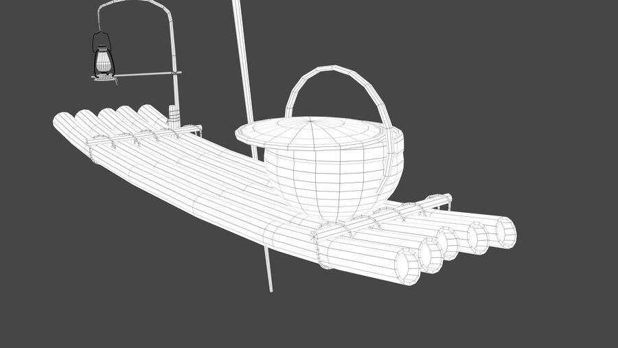 Fishing raft royalty-free 3d model - Preview no. 7
