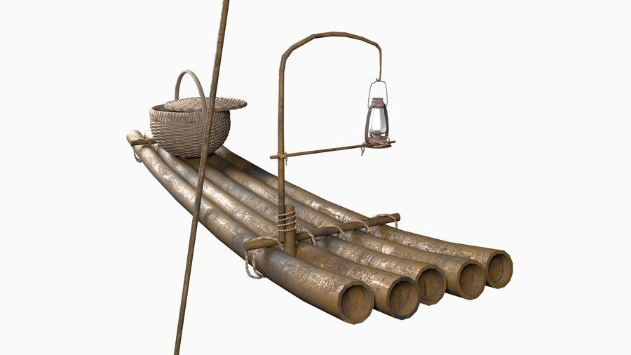 Fishing raft royalty-free 3d model - Preview no. 1