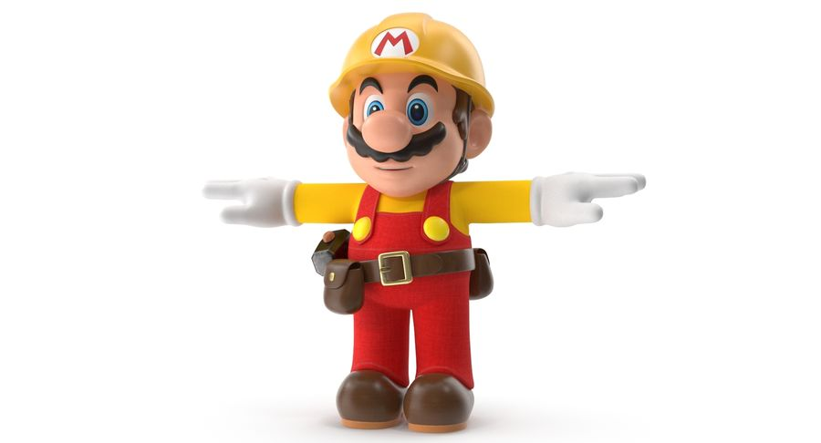 Mario Bros Builder royalty-free 3d model - Preview no. 3