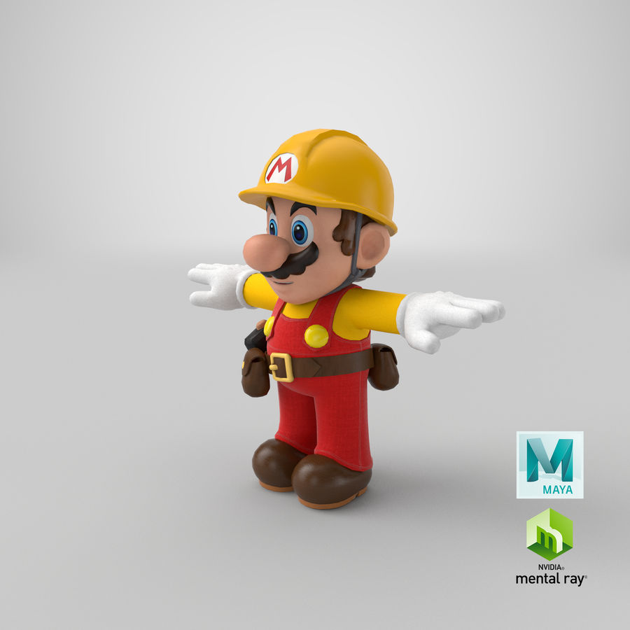 Mario Bros Builder royalty-free 3d model - Preview no. 24
