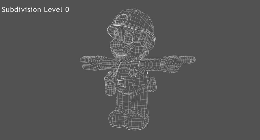 Mario Bros Builder royalty-free 3d model - Preview no. 9