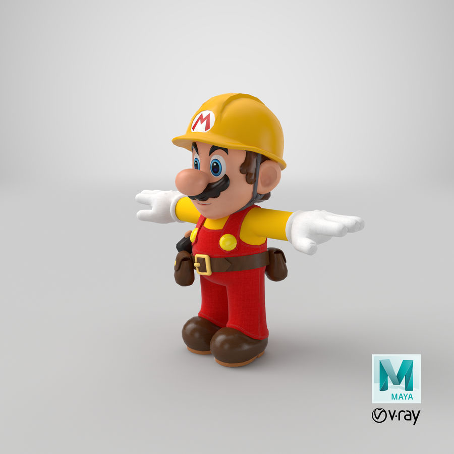 Mario Bros Builder royalty-free 3d model - Preview no. 25