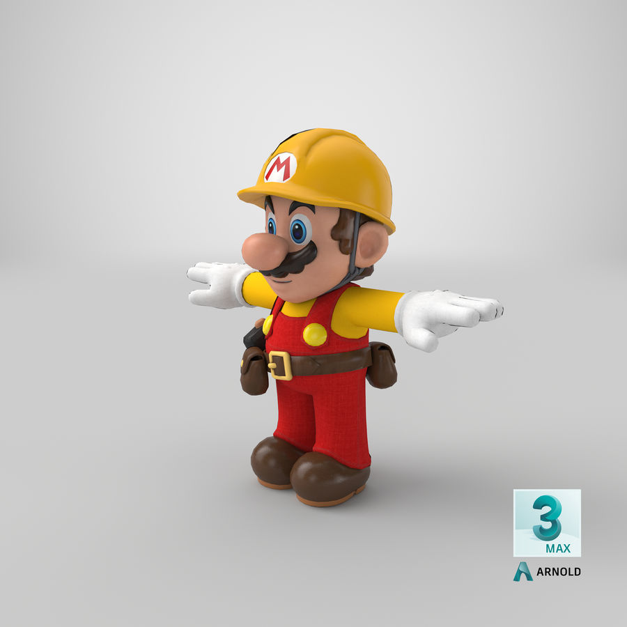 Mario Bros Builder royalty-free 3d model - Preview no. 20