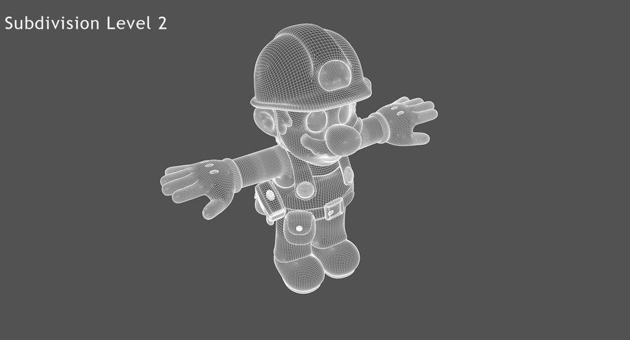 Mario Bros Builder royalty-free 3d model - Preview no. 14