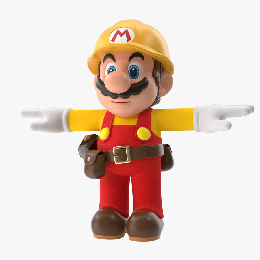 Mario Bros Builder royalty-free 3d model - Preview no. 1