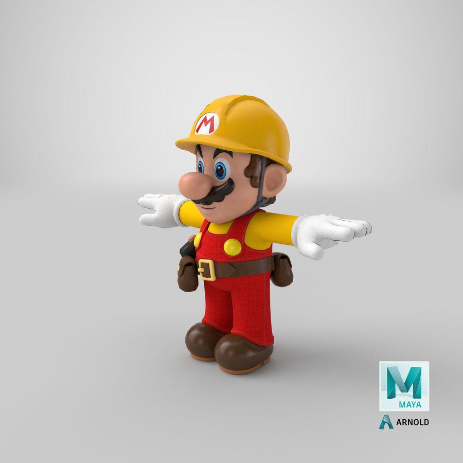 Mario Bros Builder royalty-free 3d model - Preview no. 23