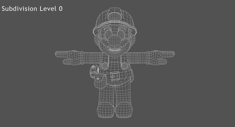 Mario Bros Builder royalty-free 3d model - Preview no. 11