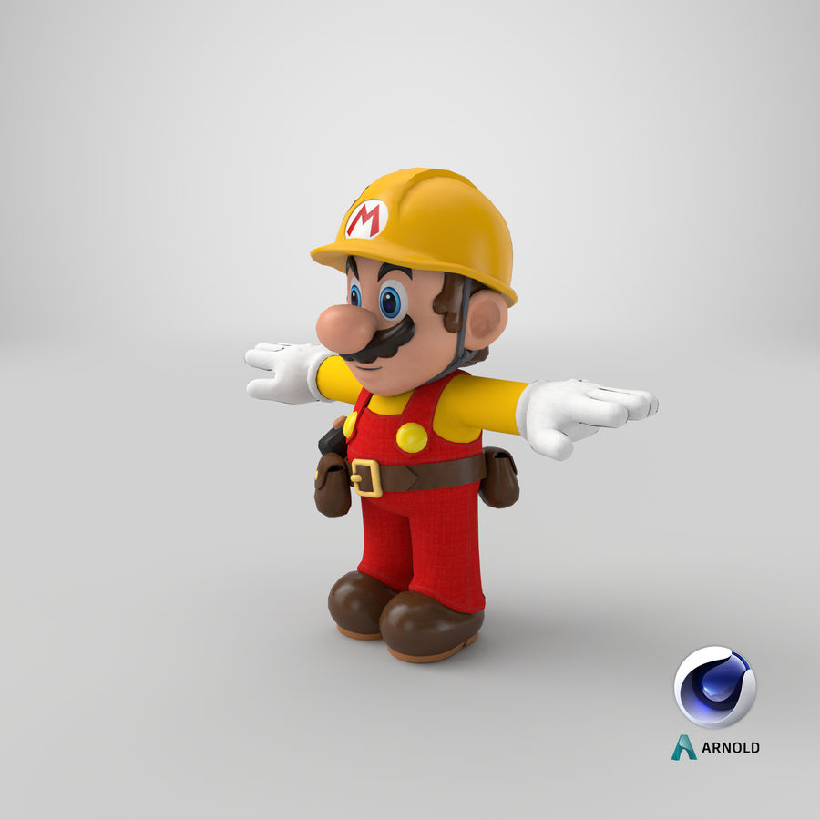 Mario Bros Builder royalty-free 3d model - Preview no. 19