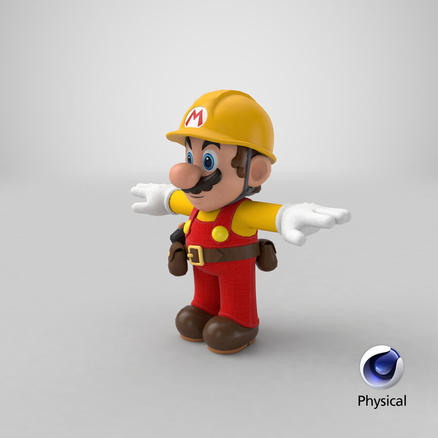 Mario Bros Builder royalty-free 3d model - Preview no. 18