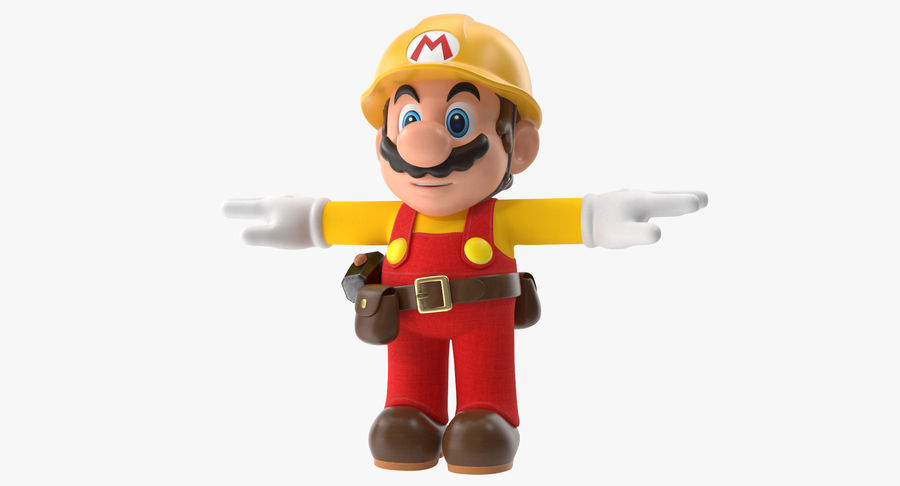 Mario Bros Builder royalty-free 3d model - Preview no. 2