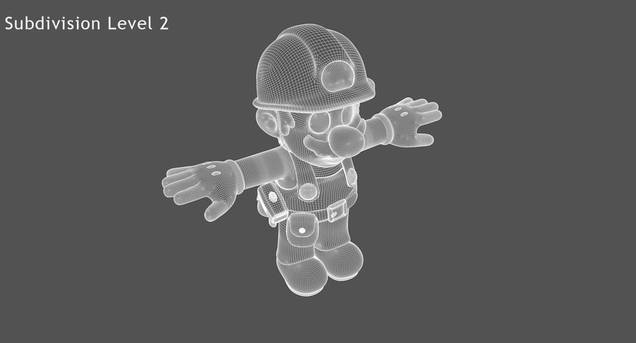 Mario Bros Builder royalty-free 3d model - Preview no. 14