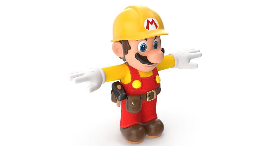 Mario Bros Builder royalty-free 3d model - Preview no. 4