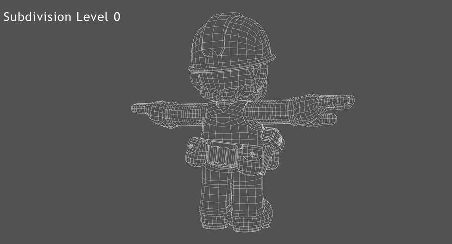 Mario Bros Builder royalty-free 3d model - Preview no. 15