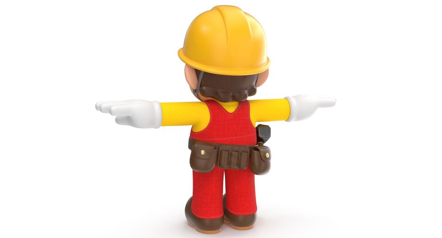 Mario Bros Builder royalty-free 3d model - Preview no. 5