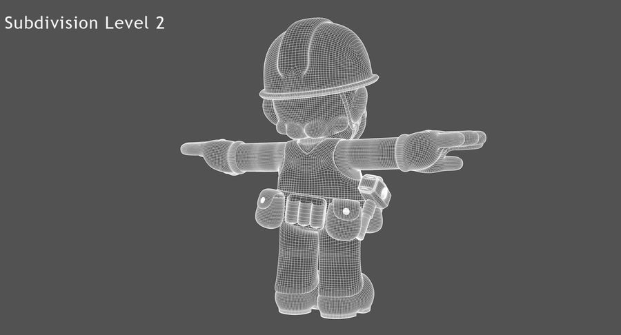 Mario Bros Builder royalty-free 3d model - Preview no. 16