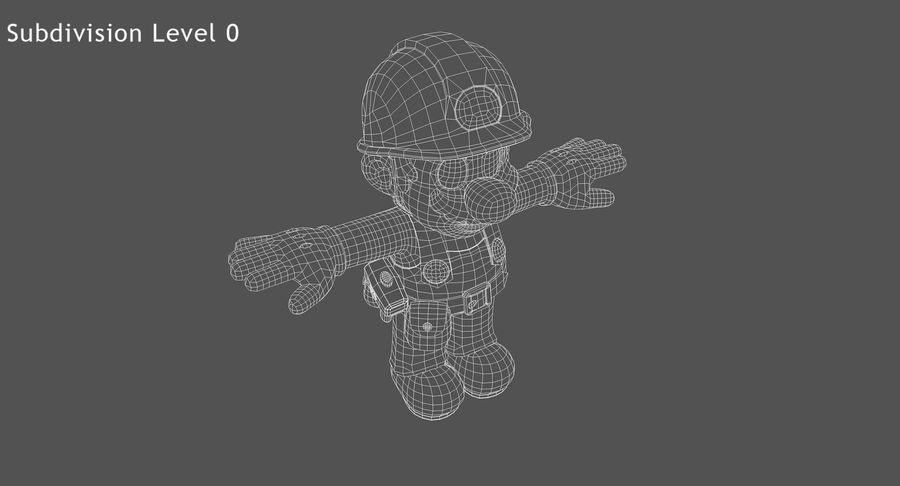 Mario Bros Builder royalty-free 3d model - Preview no. 13