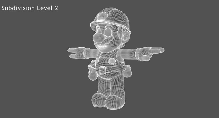 Mario Bros Builder royalty-free 3d model - Preview no. 10