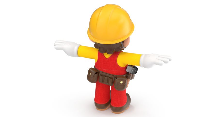 Mario Bros Builder royalty-free 3d model - Preview no. 8