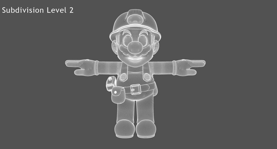 Mario Bros Builder royalty-free 3d model - Preview no. 12