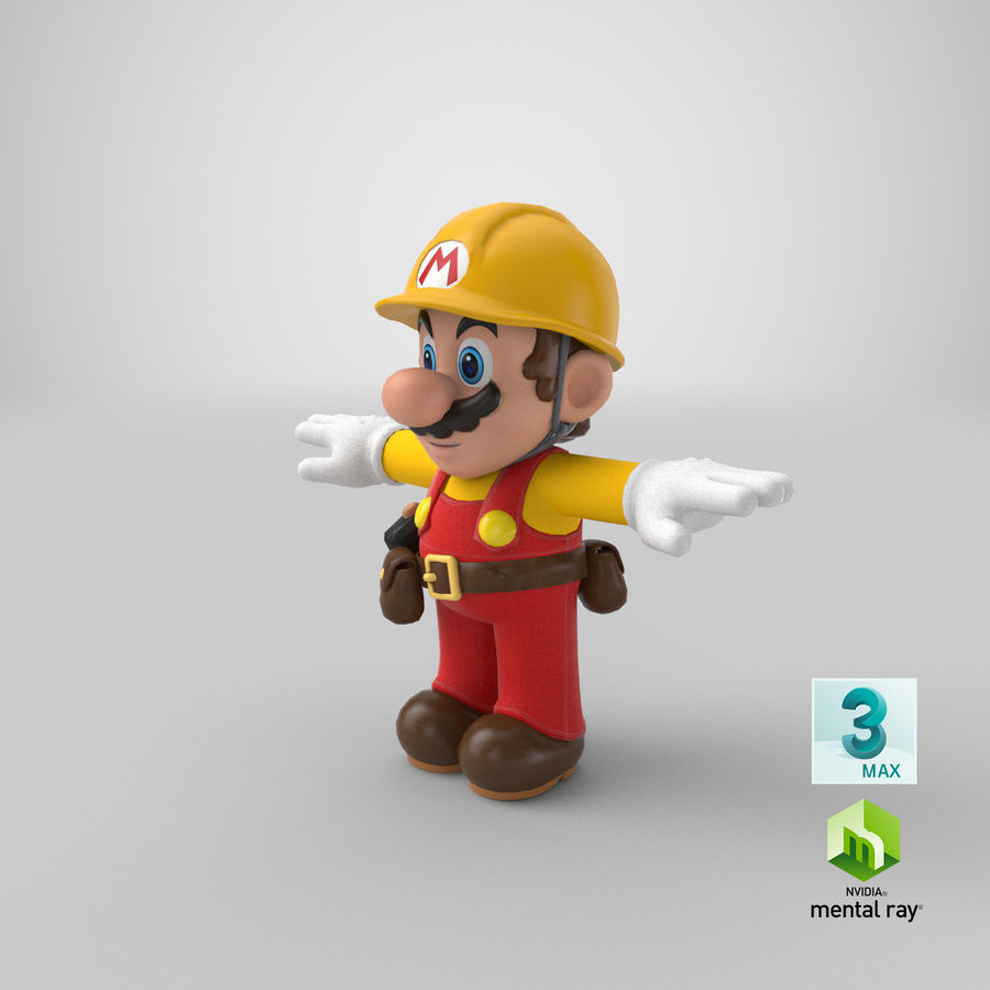 Mario Bros Builder royalty-free 3d model - Preview no. 21