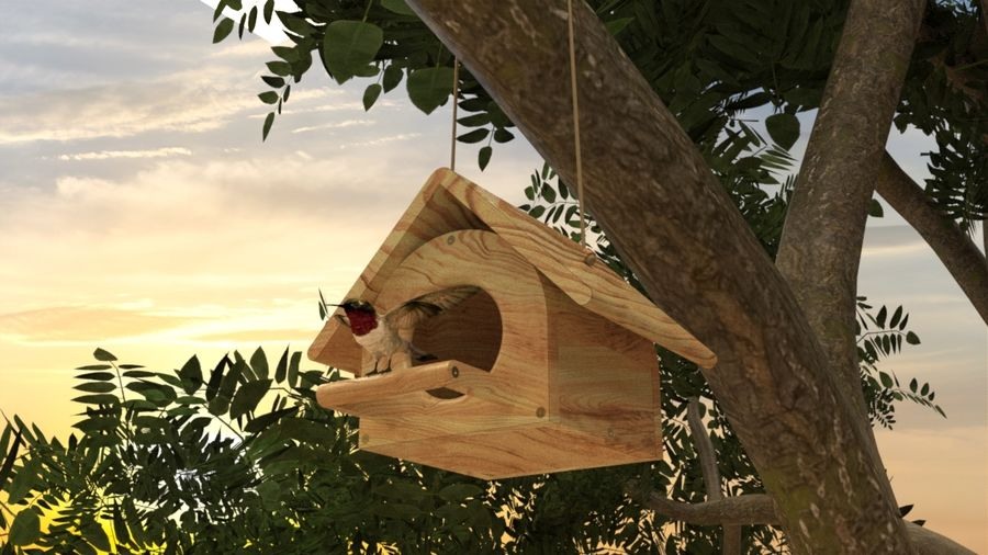 Bird Box royalty-free 3d model - Preview no. 1