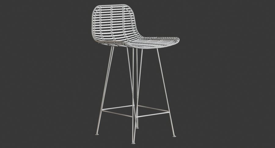 Bar stołek Living royalty-free 3d model - Preview no. 14