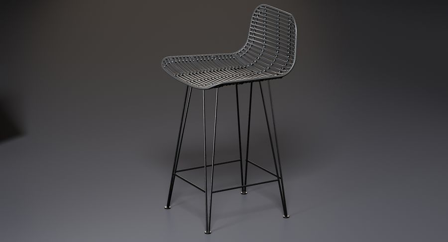Bar stołek Living royalty-free 3d model - Preview no. 4