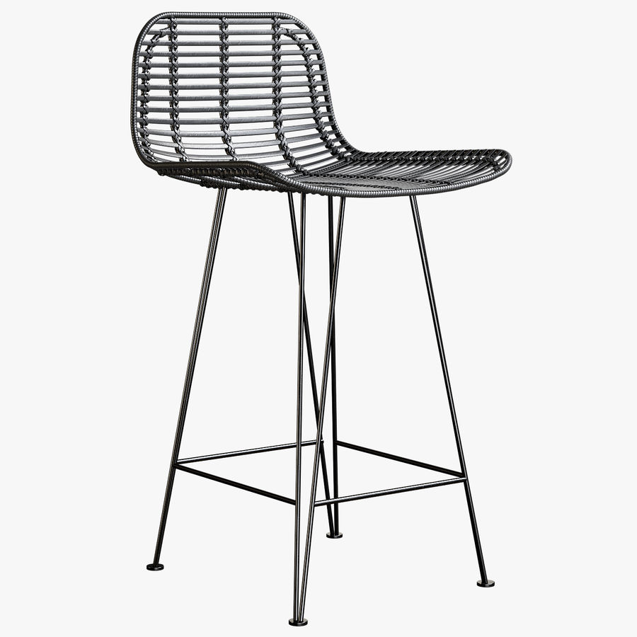 Bar stołek Living royalty-free 3d model - Preview no. 1