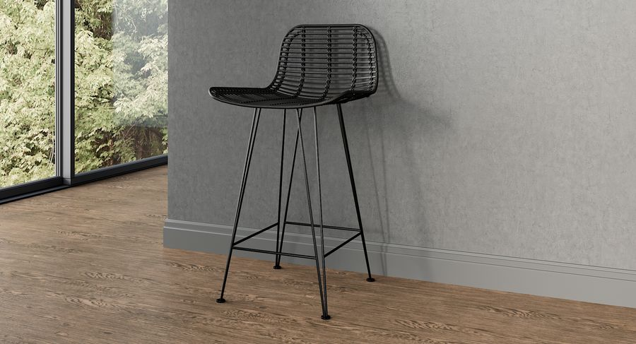 Bar stołek Living royalty-free 3d model - Preview no. 2
