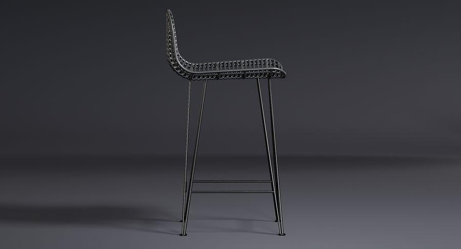 Bar stołek Living royalty-free 3d model - Preview no. 10