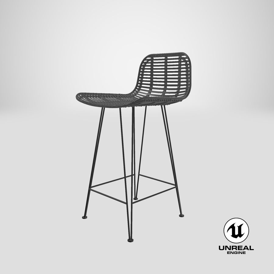Bar stołek Living royalty-free 3d model - Preview no. 33