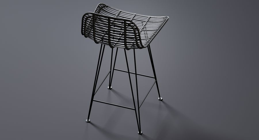 Bar stołek Living royalty-free 3d model - Preview no. 9