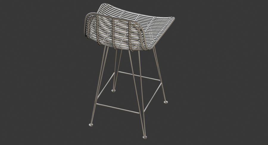 Bar stołek Living royalty-free 3d model - Preview no. 24