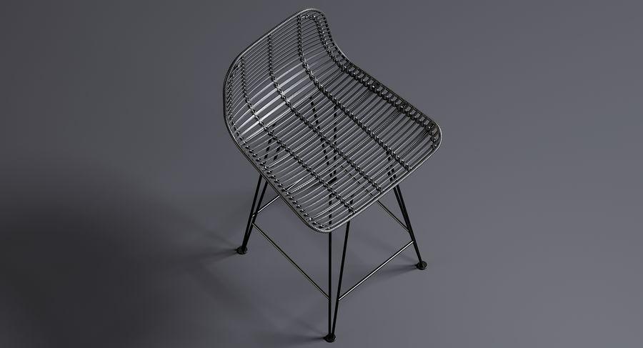 Bar stołek Living royalty-free 3d model - Preview no. 3