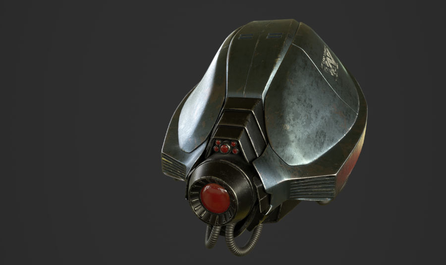 scout droid model royalty-free 3d model - Preview no. 3
