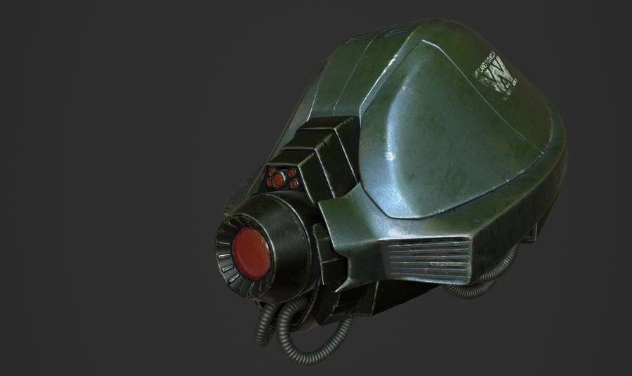 scout droid model royalty-free 3d model - Preview no. 1