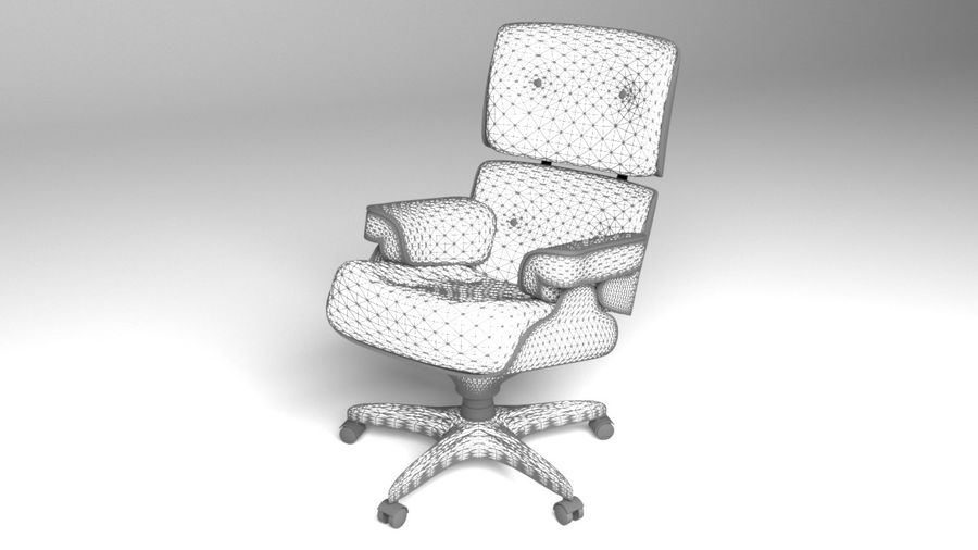 Boss Office Chair 2 royalty-free 3d model - Preview no. 9