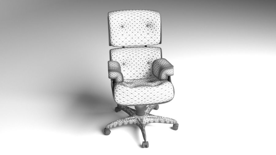 Boss Office Chair 2 royalty-free 3d model - Preview no. 7