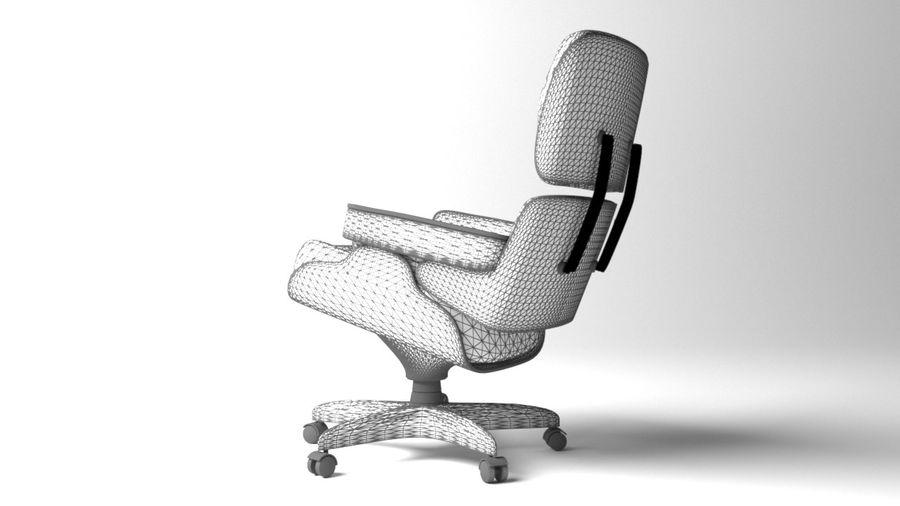 Boss Office Chair 2 royalty-free 3d model - Preview no. 8