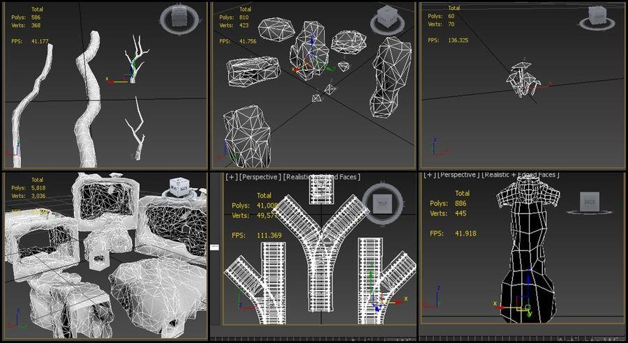 modułowy zestaw jaskiniowy royalty-free 3d model - Preview no. 11