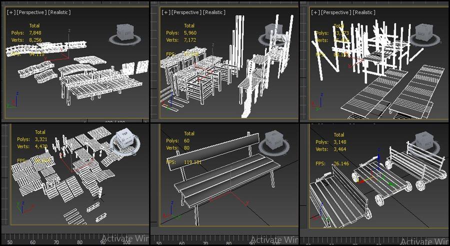 modułowy zestaw jaskiniowy royalty-free 3d model - Preview no. 6