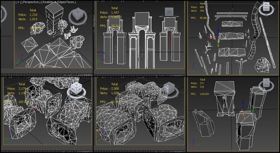 modułowy zestaw jaskiniowy royalty-free 3d model - Preview no. 10