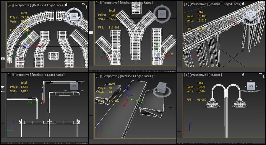 modułowy zestaw jaskiniowy royalty-free 3d model - Preview no. 9