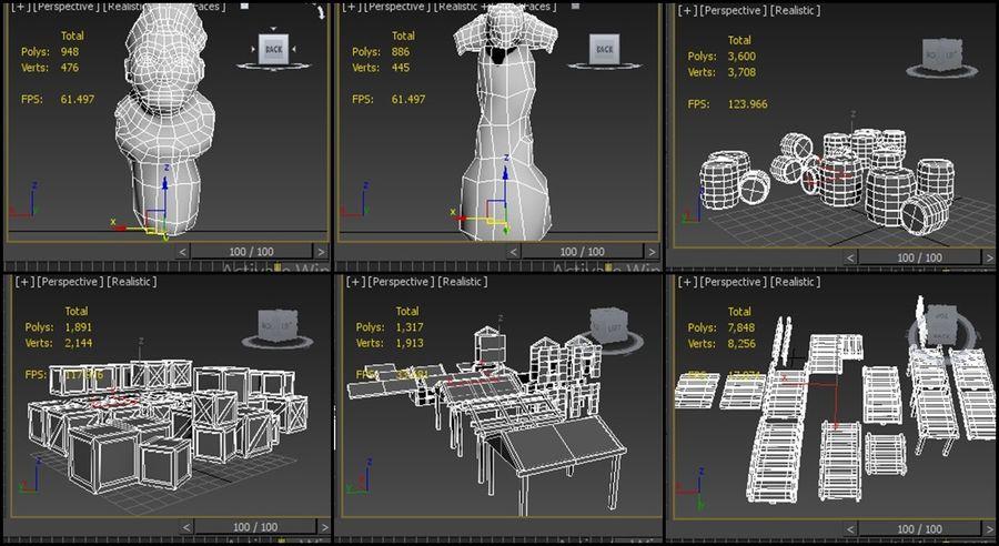modułowy zestaw jaskiniowy royalty-free 3d model - Preview no. 8