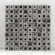 Panel  stone cube hole n2 3d model
