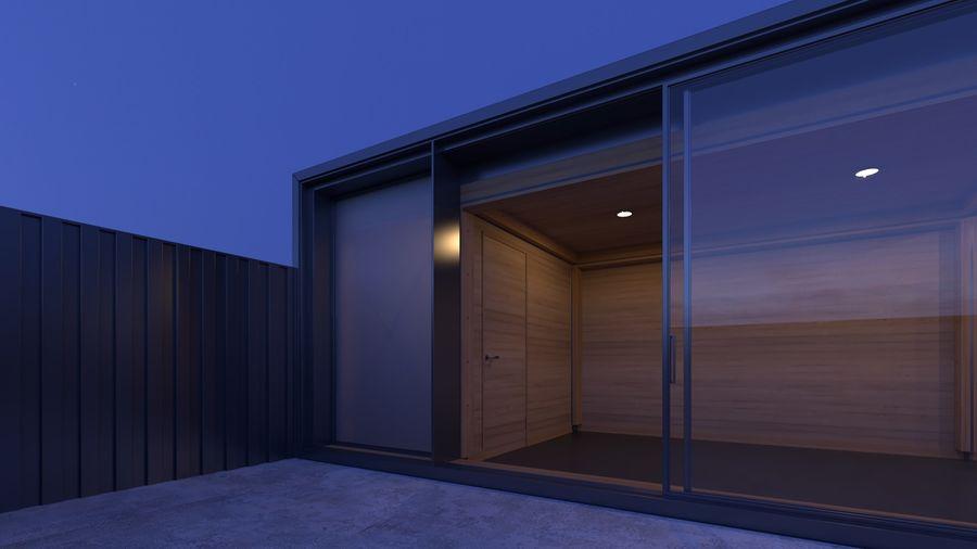 Casa mínima do recipiente royalty-free 3d model - Preview no. 15