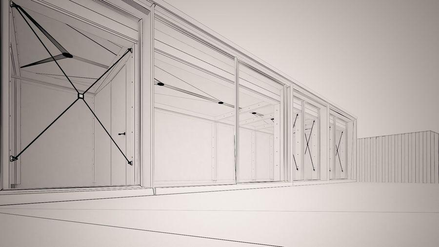 Casa mínima do recipiente royalty-free 3d model - Preview no. 19