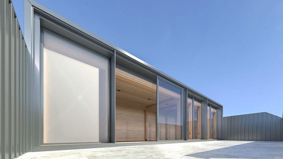 Casa mínima do recipiente royalty-free 3d model - Preview no. 9