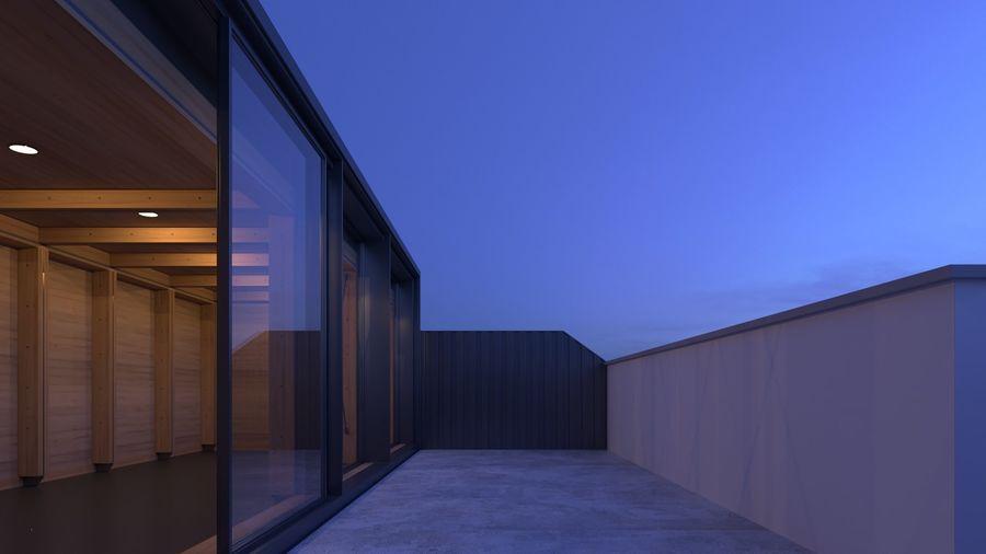 Casa mínima do recipiente royalty-free 3d model - Preview no. 14